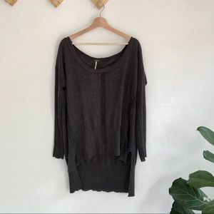 NWT Free people | charcoal oversized sweater